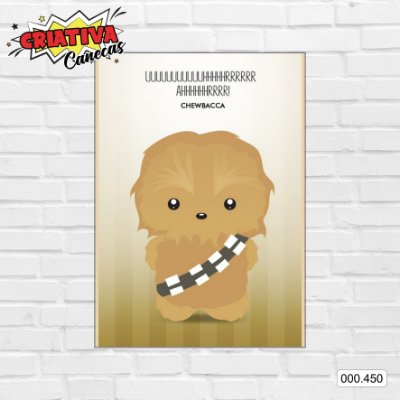 Placa decorativa - Star Wars - Chewbacca