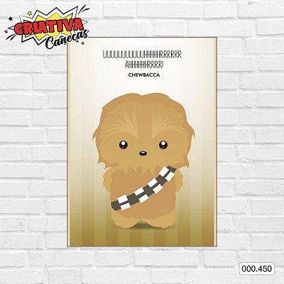 Placa decorativa - Star Wars - Chewbacca