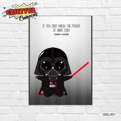 Placa decorativa - Star Wars - Darth Vader Cartoon