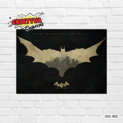 Placa decorativa - Batman - Arkham Knight