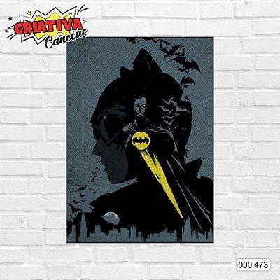 Placa decorativa - Batman & Mulher-Gato