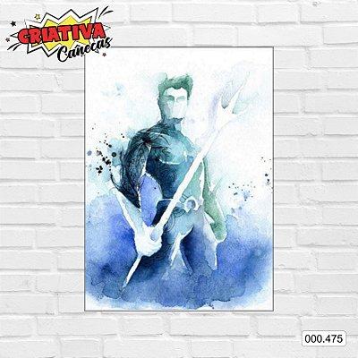 Placa decorativa - Aquaman, Arte