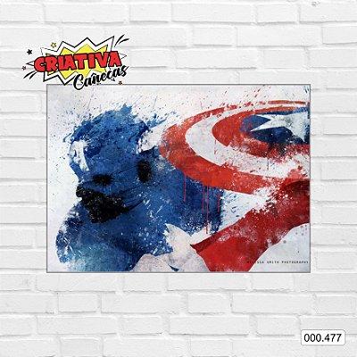 Placa decorativa - Capitão America, Arte