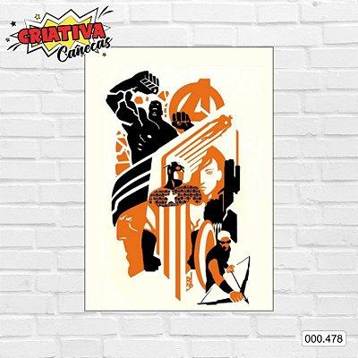 Placa decorativa - Vingadores