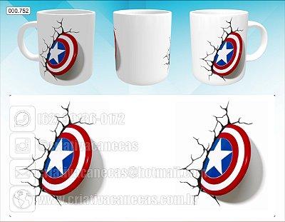 Caneca - Capitão America, Escudo