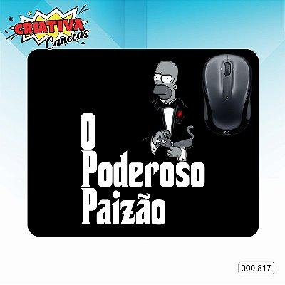 Mouse Pad - Poderoso Paizão - Homer Simpson