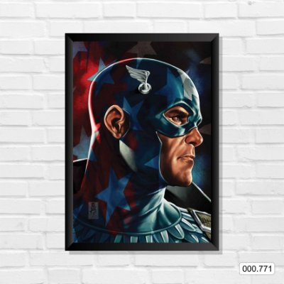 Quadro - Capitão América, Arte 2