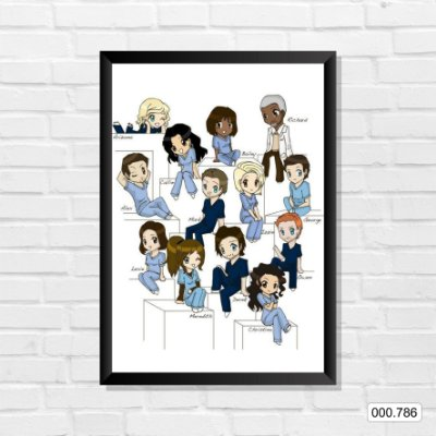 Quadro - Grey's Anatomy - Personagens