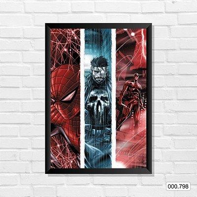 Quadro - Homem-Aranha, Justiceiro, Demolidor