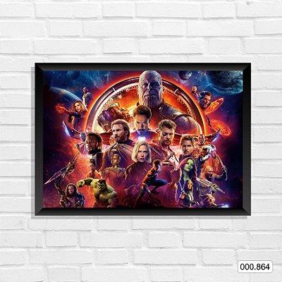 Quadro - Vingadores, Arte q