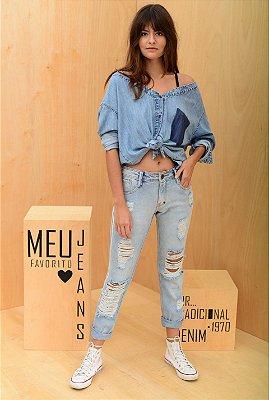 Camisa  desconstruída  jeans