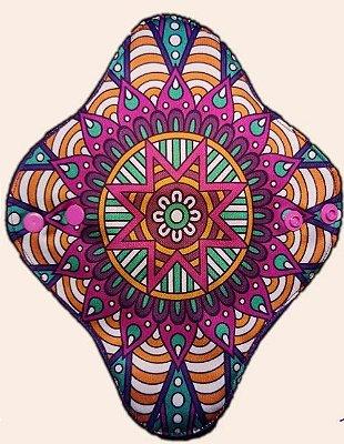Absorvente Feminino Diurno Mandala Estrela Colorida
