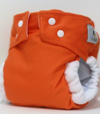 Fralda de Piscina Laranja- Nós e o Davi Acompanha um absorvente em Melton 6 camadas