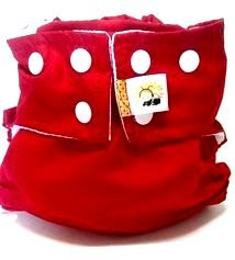 Fralda de Piscina Vermelha- Belinha Baby Acompanha absorvente