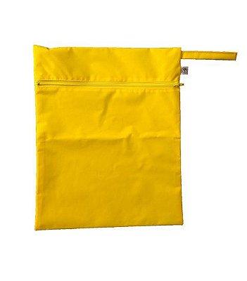 Sacola impermeável amarela