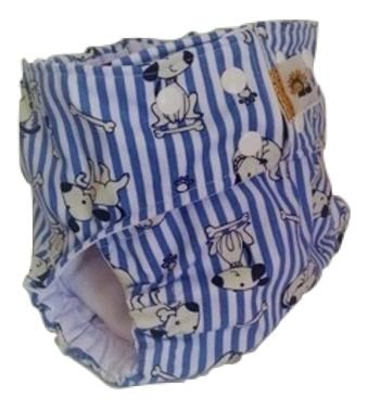 Fralda diurna cachorrinhos - Belinha Baby - acompanha 1 absorvente
