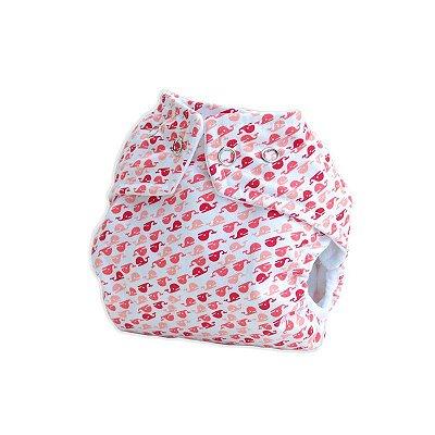 Fralda Ecológica Pequenitas Cover - Baleinha- Bebês Ecológicos - Acompanha absorvente