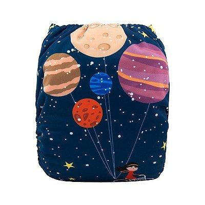 Fralda Menina no Espaço - Alvababy - Acompanha absorvente