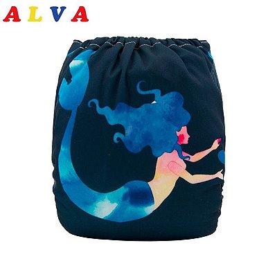 Fralda Sereia - Alvababy - Acompanha absorvente