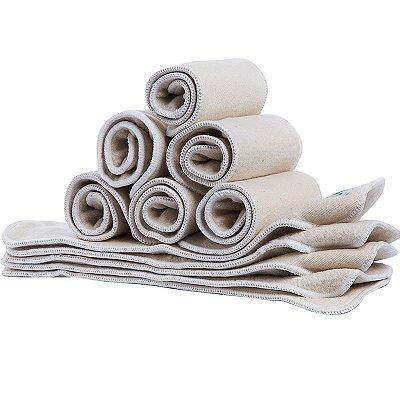 Conjunto de 2 absorventes 1 hemp + 1 bambu