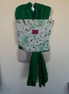 Wrap sling verde flores
