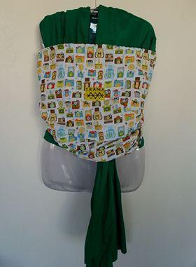 Wrap sling verde máquina fotográfica