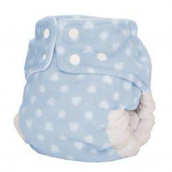 Fralda Ecológica Noturna Algodão Doce Azul- Bebês Ecológicos