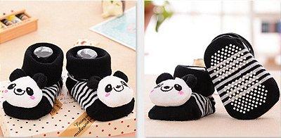 Meias antiderrapantes Panda- Tamanho 6 meses a 1 ano