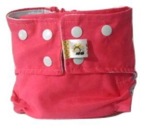 Fralda de Piscina Rosa Recém Nascido - Belinha Baby Acompanha absorvente