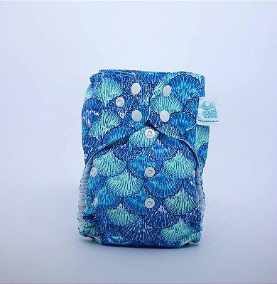 Fralda de Piscina Conchas Azuis - Bolinha de Sabão
