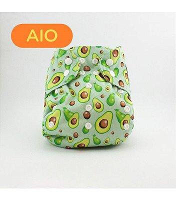 Fralda AIO em pull Avocado - Nós e o Davi