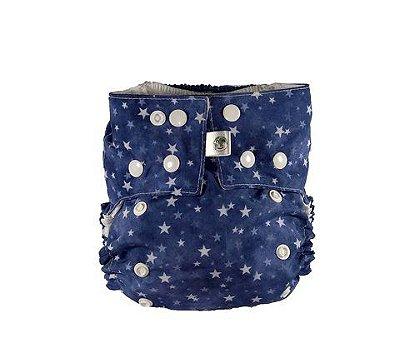 Fralda Ecológica Nova Era Baby - Estrela Azul