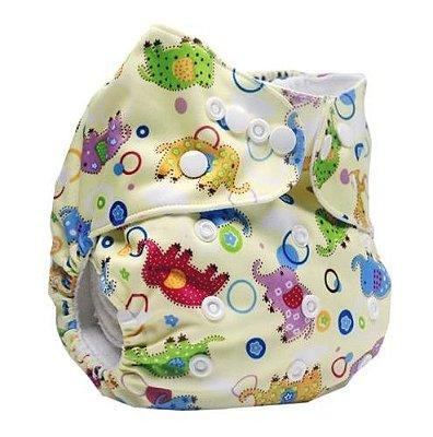 Fralda Elefantinhos Coloridos em Pull - Mumsbest