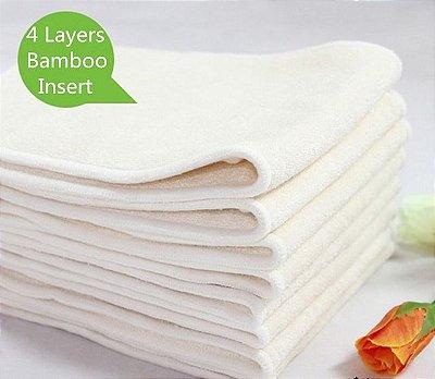 Kit com 5 absorventes de bambu