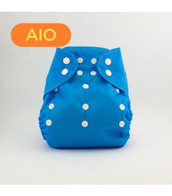 Fralda AIO em pull Azul - Nós e o Davi