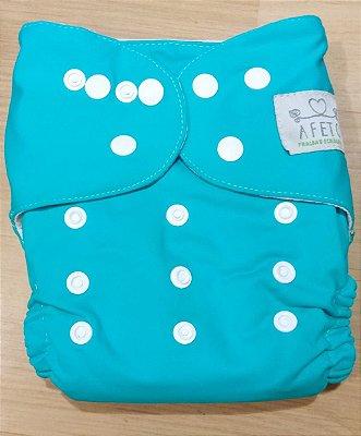 Azul Esverdeado  - Afeto - Acompanha absorvente de meltom 6 camadas