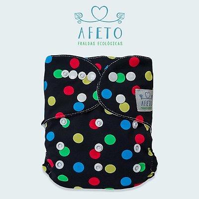 Bolinhas Coloridas - Afeto - Acompanha absorvente de meltom 6 camadas