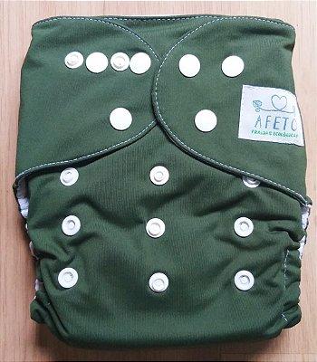 Verde Musgo - Afeto - Acompanha absorvente de meltom 6 camadas