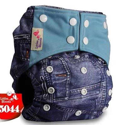 Fralda Jeans Carvão de Bambu  - Littles e Bloomz