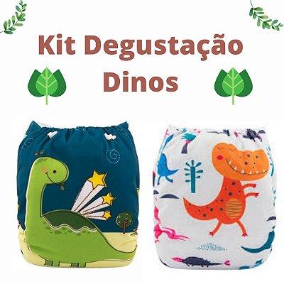 Kit Degustação Dinos - Alvababy - 2 fraldas e 2 absorventes