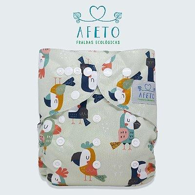 Papagaios - Afeto - Pull - Acompanha absorvente de meltom 6 camadas.