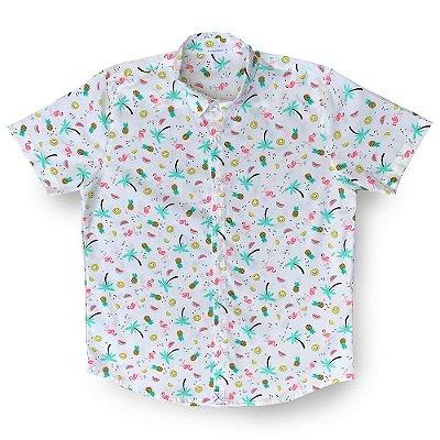 Camisa Flamingo Citric Kamizahia FEMININA