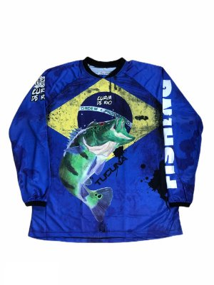 Camisa Pesca Curva de Rio Brasil Azul