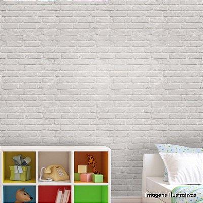 Papel de Parede Texturizado Autocolante Tijolinho Branco