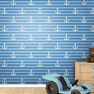 Papel de Parede Infantil Marinheiro Texturizado Autocolante