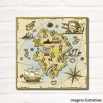 Quadro Decorativo Infantil Mapa