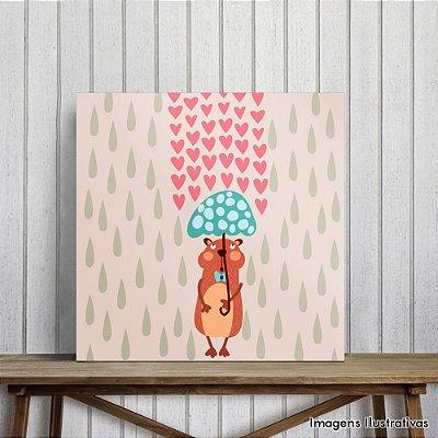 Quadro Decorativo Chovendo Amor
