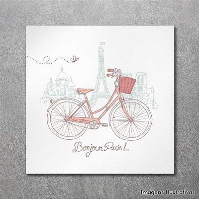 Quadro Decorativo Bike em Paris