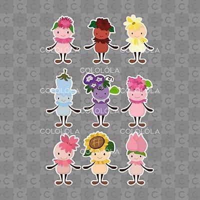 Adesivo de Parede Infantil Bonecas de Flores