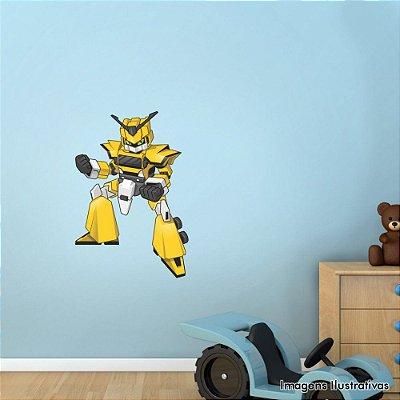 Adesivo de Parede Infantil Robô Amarelo